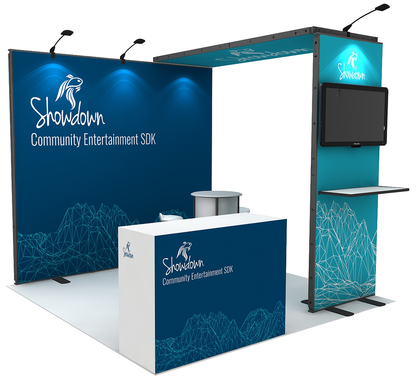 Reusable Cheap Small Tradeshow Exhibits For Booth Display