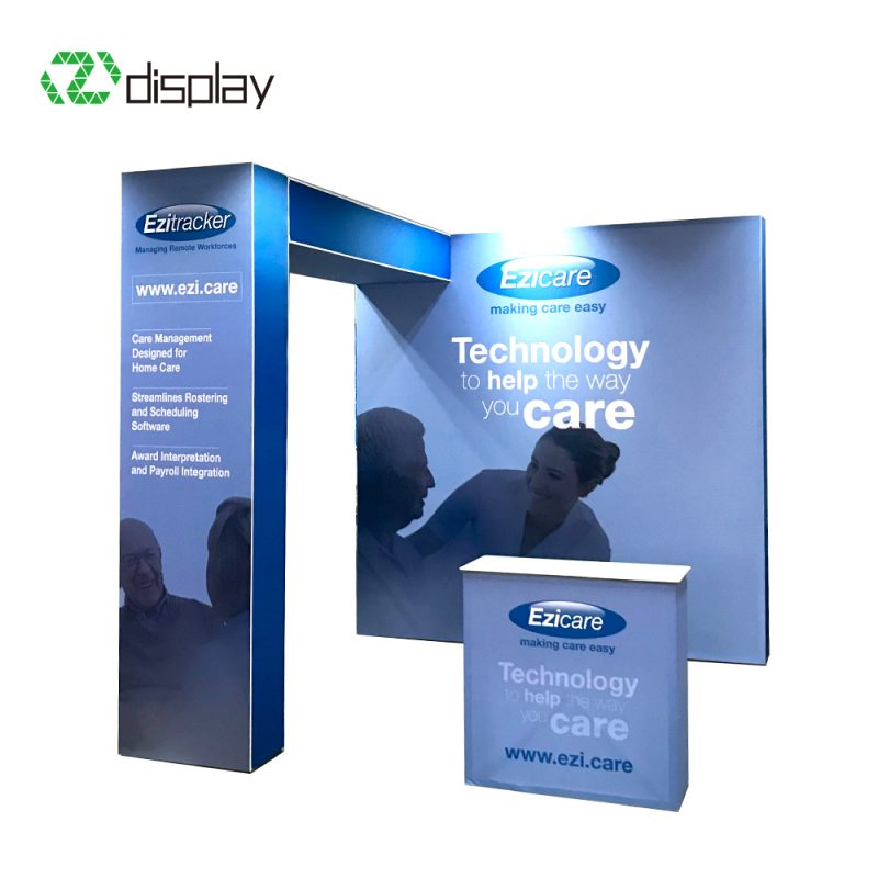 3x3 portable tension fabric display stand For Show