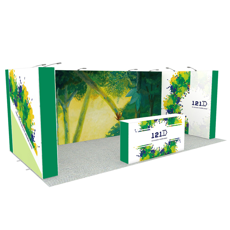 10X20ft Portable Modular Aluminum Pop Up Display Stand For Exhibition