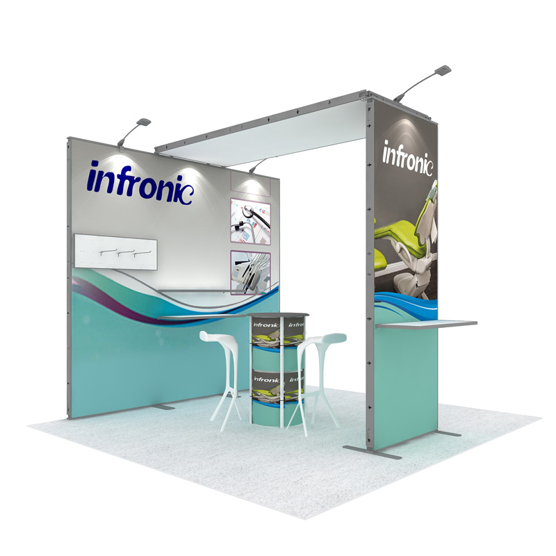 Recycle Modular Exhibition Trade Show Booth For 3X3