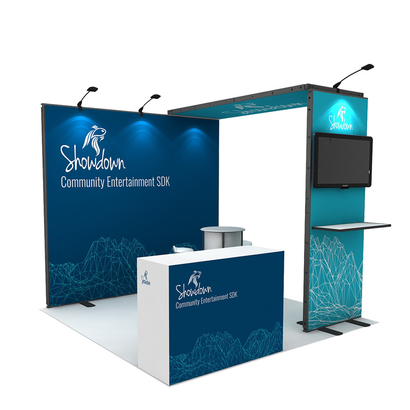 Reusable Cheap Small Tradeshow Exhibits For Booth Dispaly