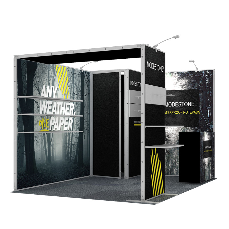 3X4 Modular Trade Show Fabric Exhibition Booth With Graphic