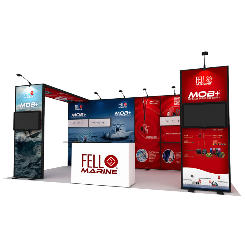 Modular Reusable Exhibition Trade Show Booth In Aluminum
