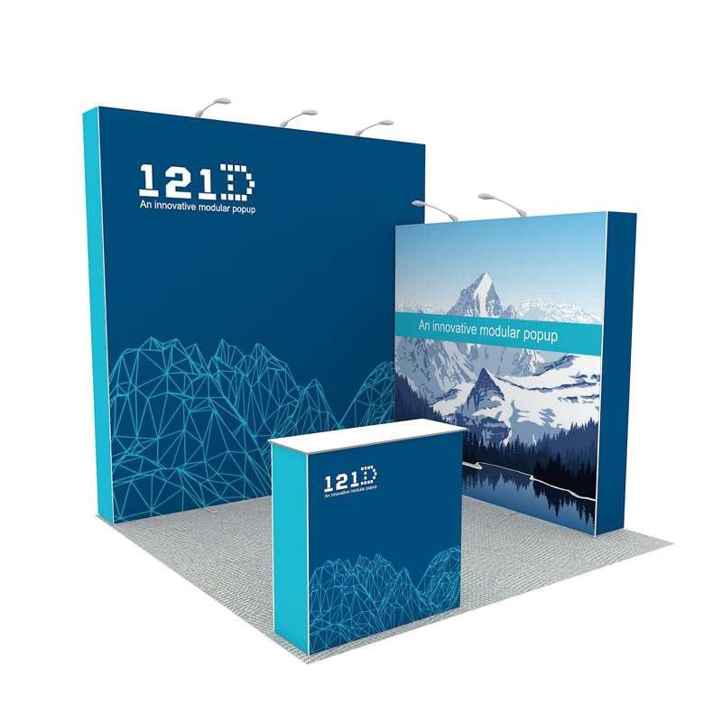 10X10 Portable Aluminum Pop Up Exhibition Stands For Tradeshow