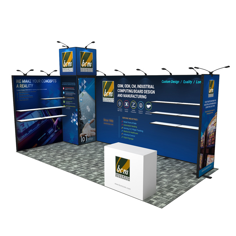10X20 Modular Aluminum Booth Exhibition Display With Counter
