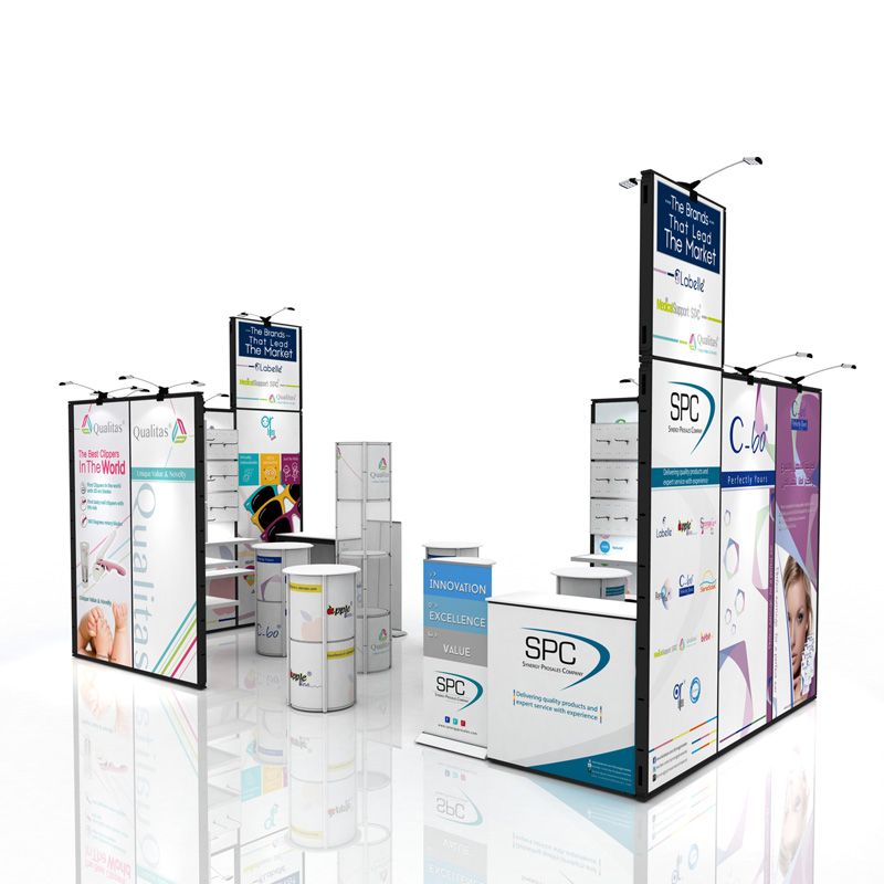 Reusable Trade Show Display Booth For Fabric Graphic With Good Quality