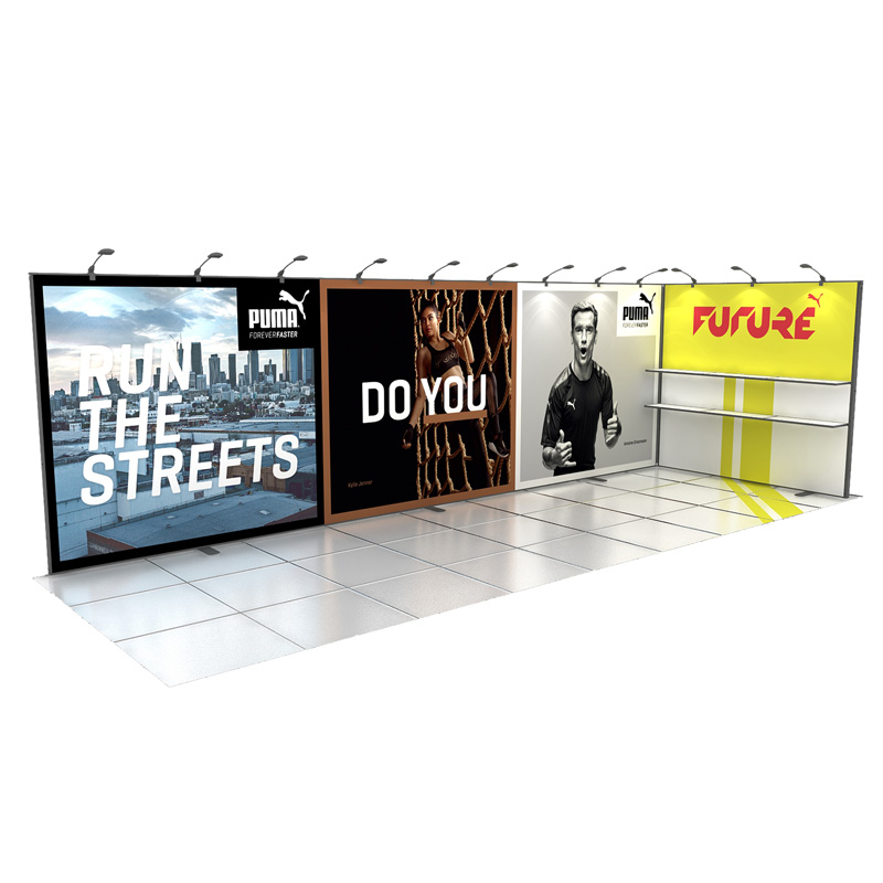 Aluminum Modular Exhibition Display With Graphic For Tradeshow