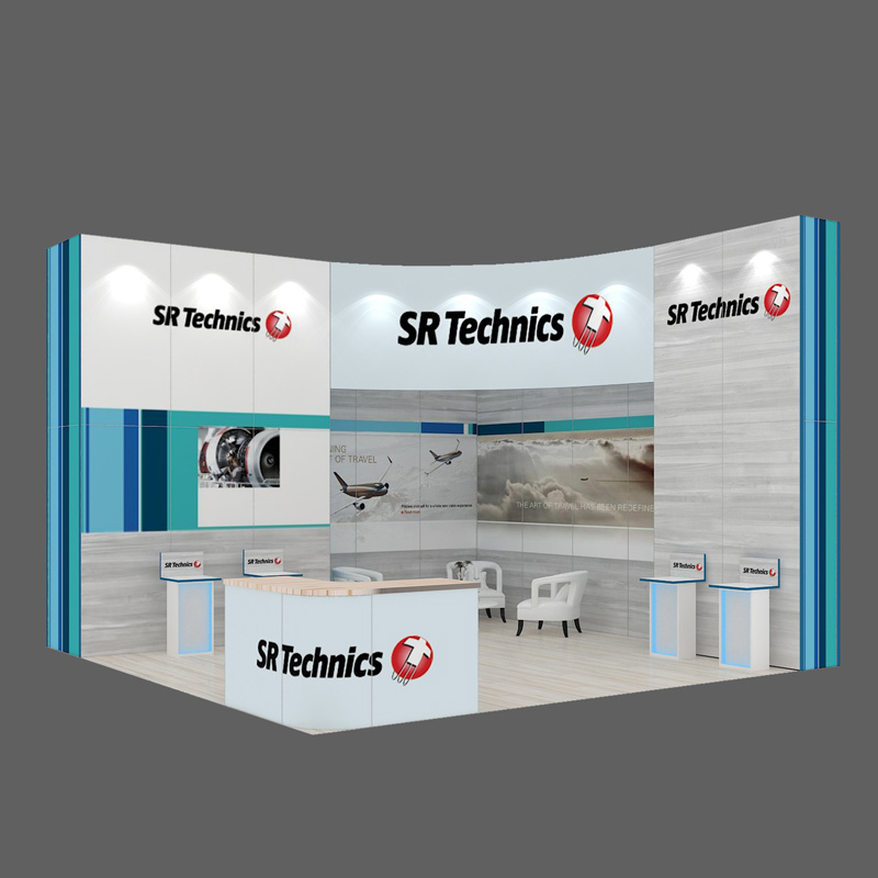 New Designed Portable Curved Aluminium Trade Show Display