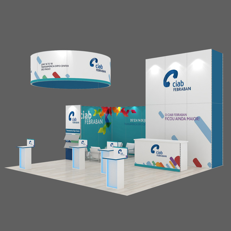 DIY Reusable Modular Trade Show Stand 20X20 With Suspended Ceiling