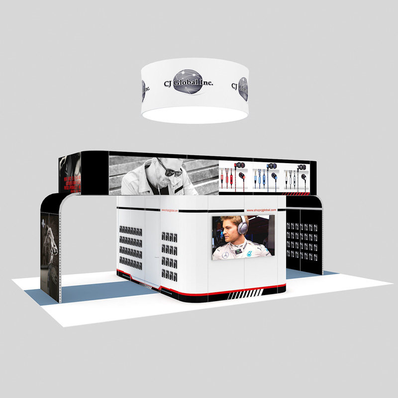 6X9 New Designed Modular Exhibition Booth For AV Stand Supplier
