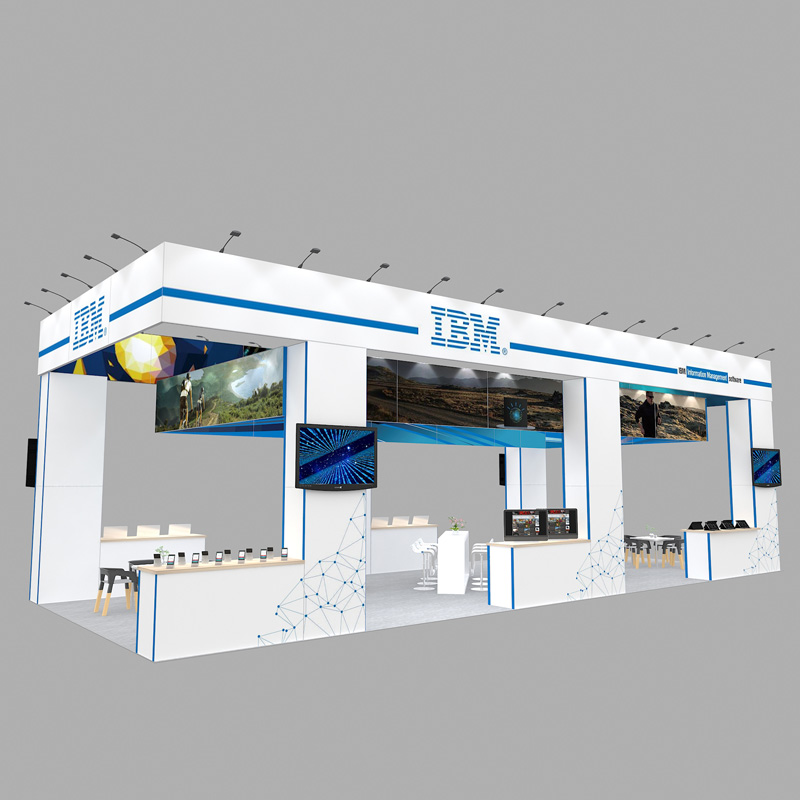 20X50 Modular Reusable Exhibition Trade Show Booth In Aluminum