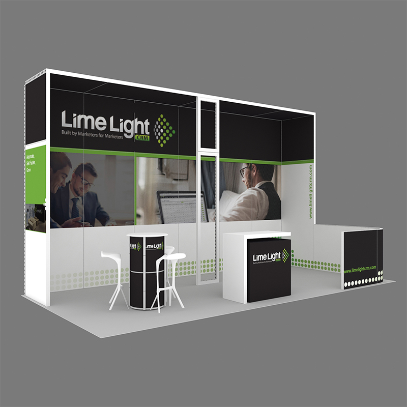 10X20 Reusable Modular Exhibition Display In Aluminum