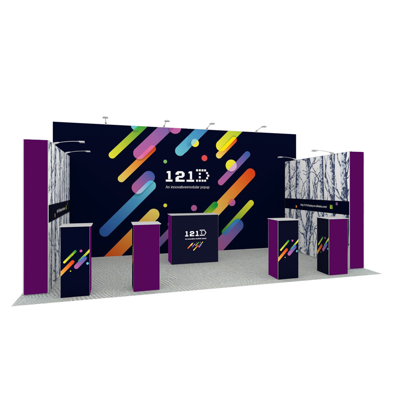 10X20ft Reusable Modular Aluminum Pop Up Display For Exhibition Stands