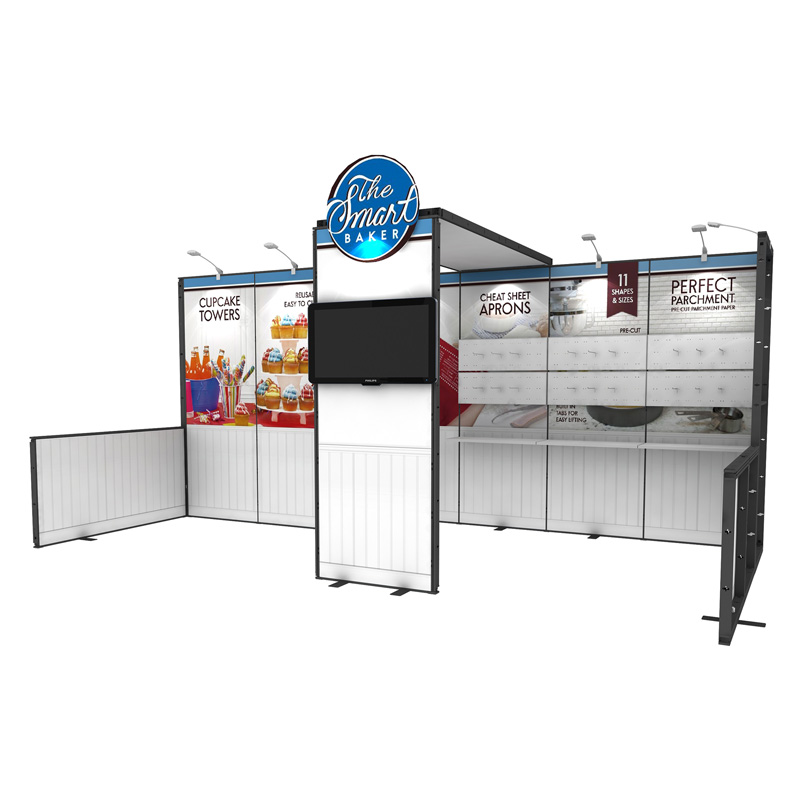 10X20 Fast Assembly Metal Modular Booth Exhibition For Show