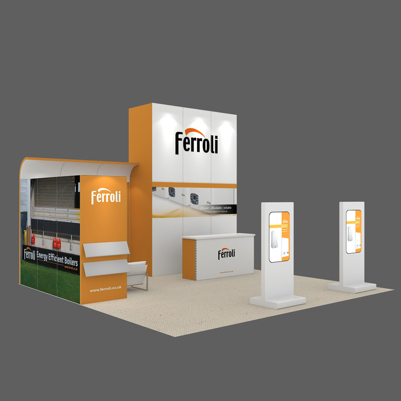 6X6 Aluminium Modular Frame With Graphic For Exhibition Booth Designing