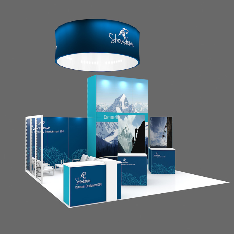 20X20 Reusable Modular Tradeshow Booth With Good Quality