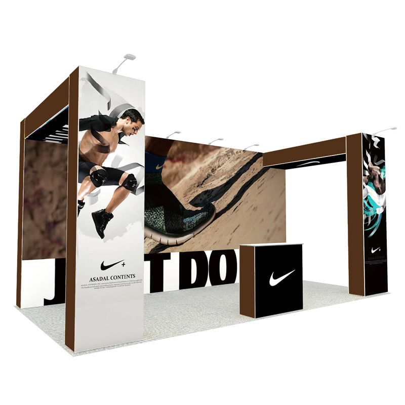 10X20ft Reusable Portable Modular Pop Up Display Booth In Aluminum