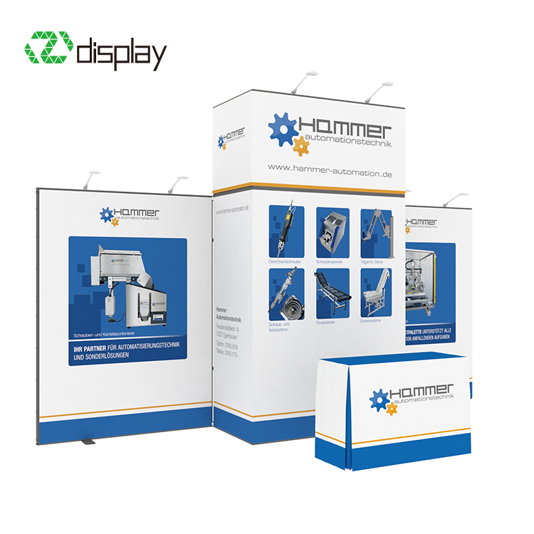 Exhibit booth displays