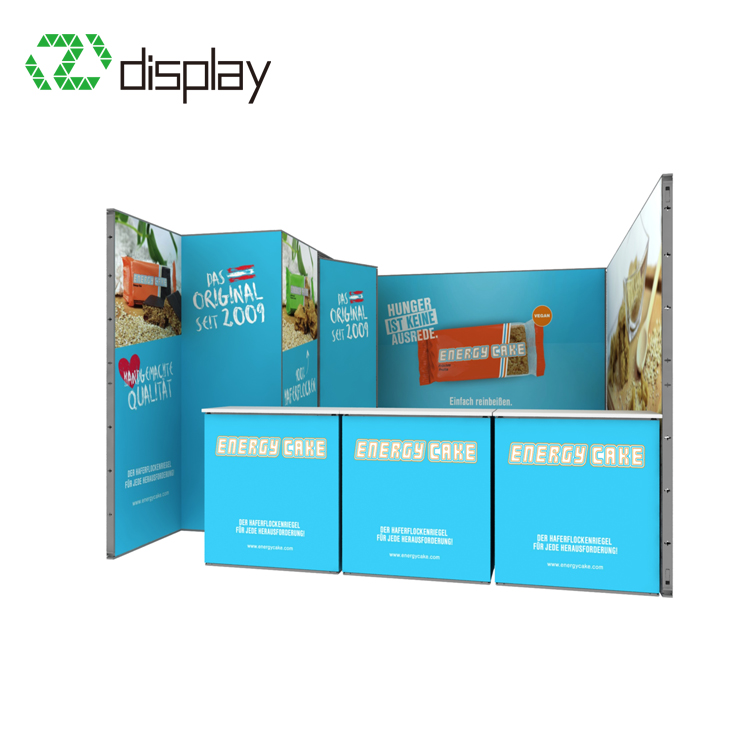 4x4 Flexible Frame Advertising Display Stand With Aluminum Counter