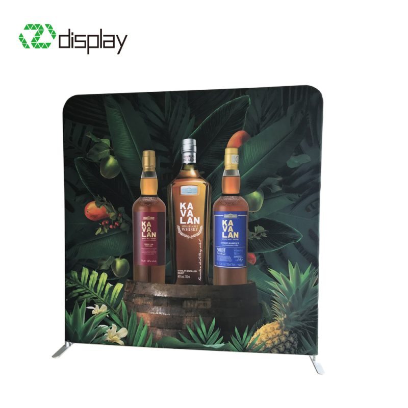 8ft trade show back wall display stand