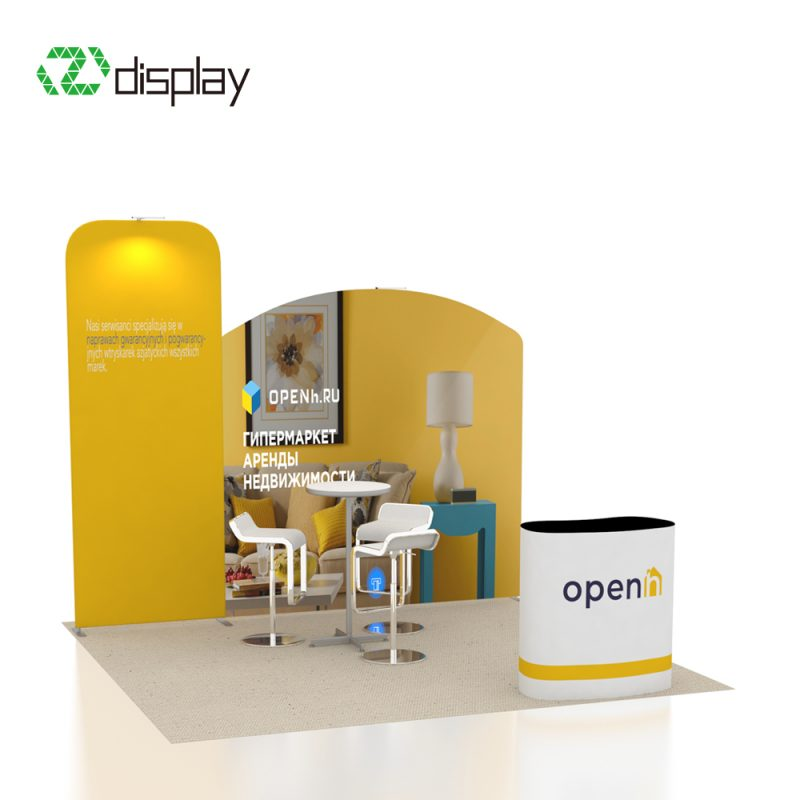 10ft tension fabric portable booth kit