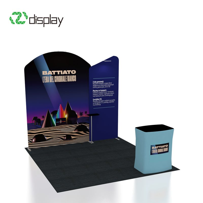 10ft fabric pop up display stand