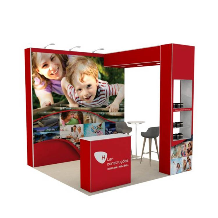 Fashion Pop Up Trade Show Booth With Showcase Display