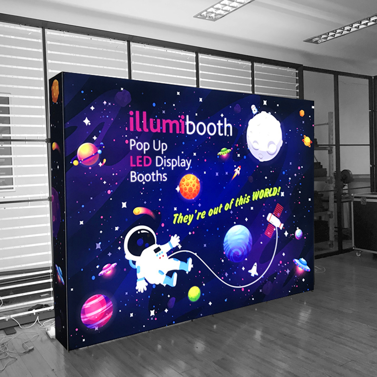 Aluminum Backdrop Led Light Box Exhibition Stand Display for Trade Show