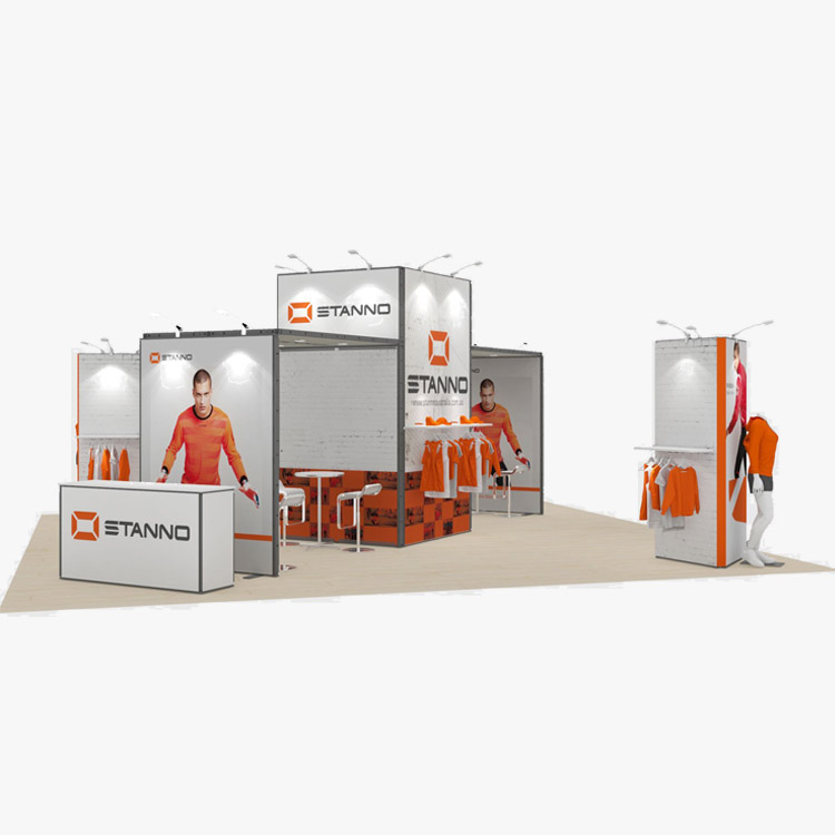 20x20ft Fashion Modular Exhibition Design Systems Trade Show Booth