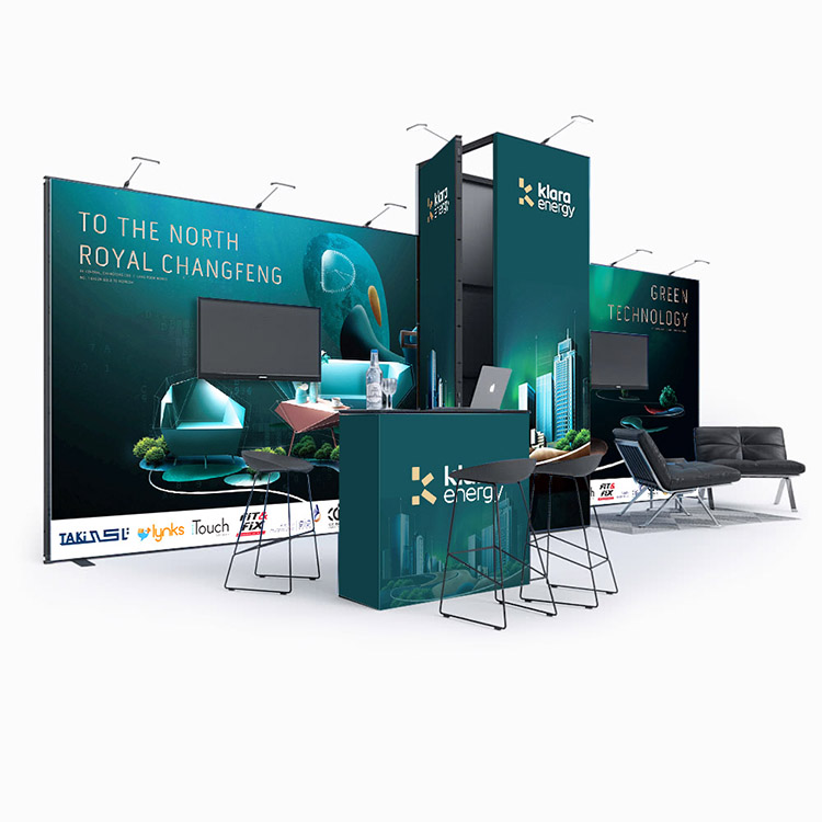 Luxury Modular Tradeshow Displays Exhibition Stand Design Booth for Trade Shows