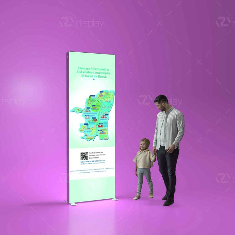 Free Standing Double-sided Advertising Display Backlit LED Light Box