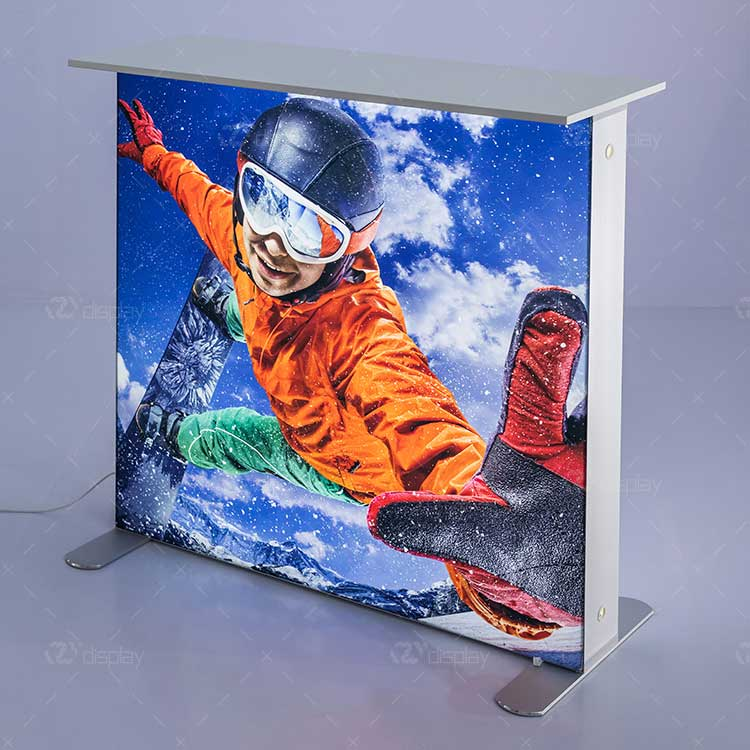 Portable SEG Popup LED LightBox Counter For 2020 Expo