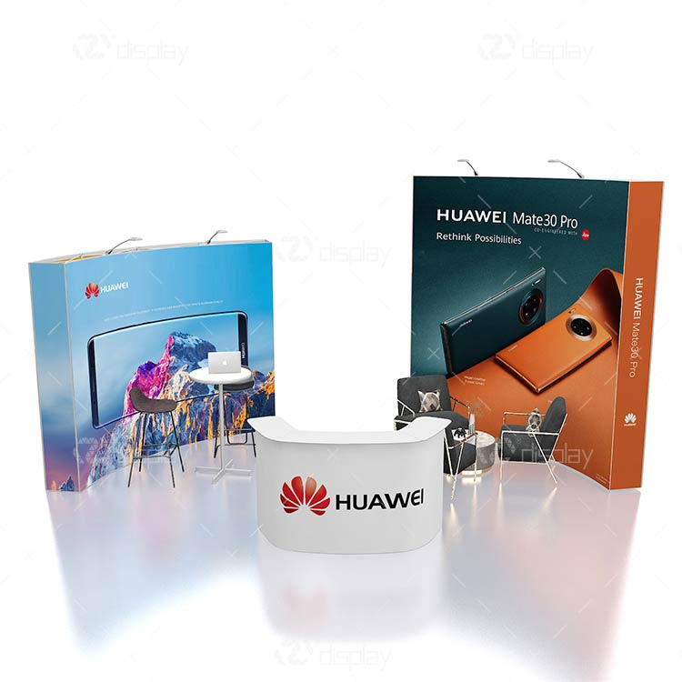 Huawei Curved Tradeshow Display Booth