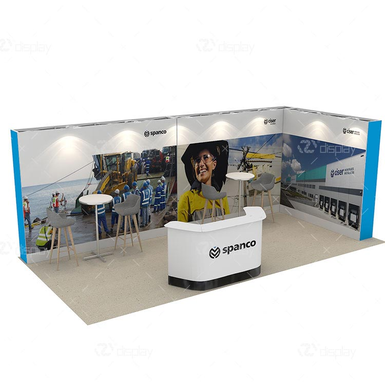 L Shape Portable Exhibition Stand For 10x20ft Booth