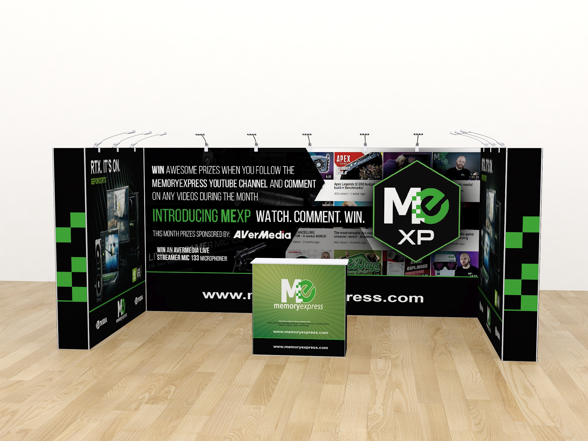 20ft pop up display stand