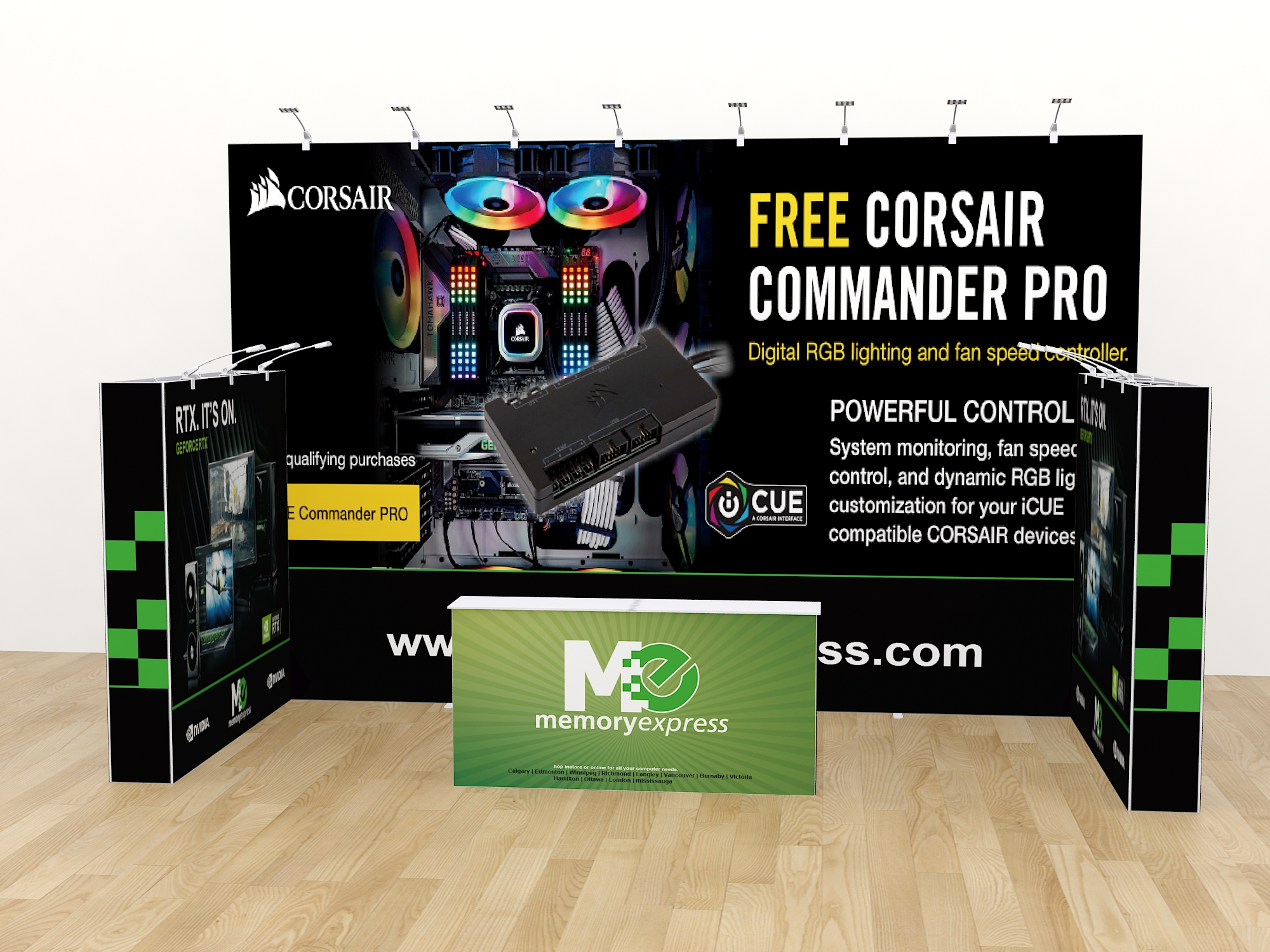 121display Portable tension fabric trade show display 10x10 booth