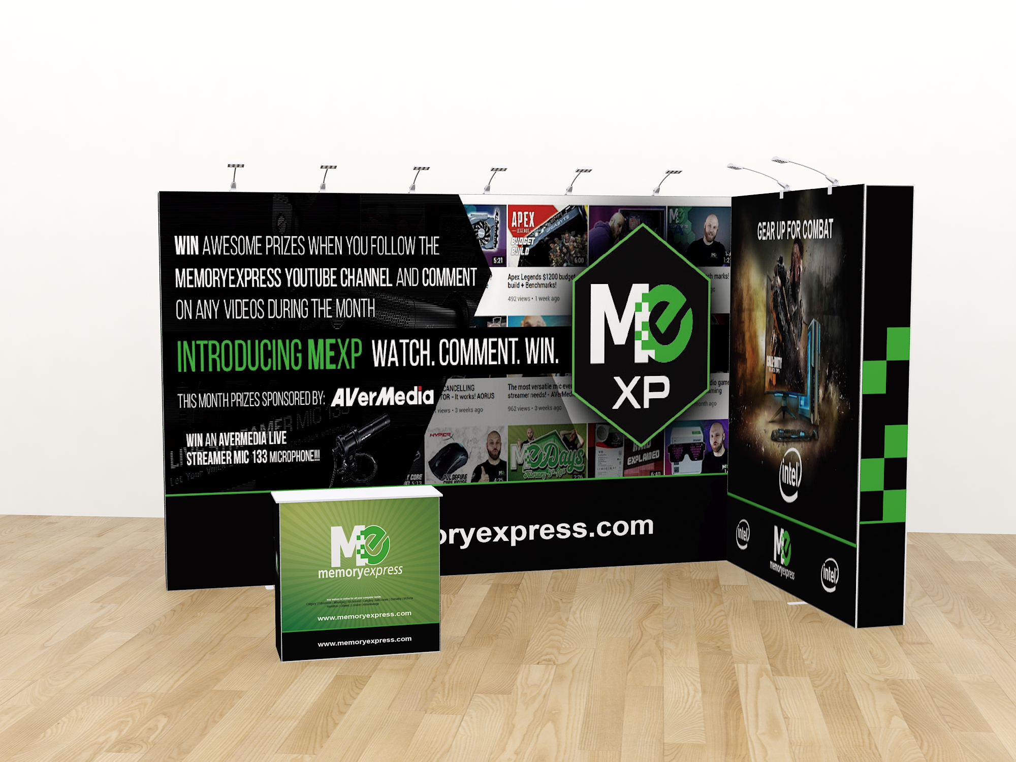 Yier Pop-Up Trade Show Portable Display Booth with counter