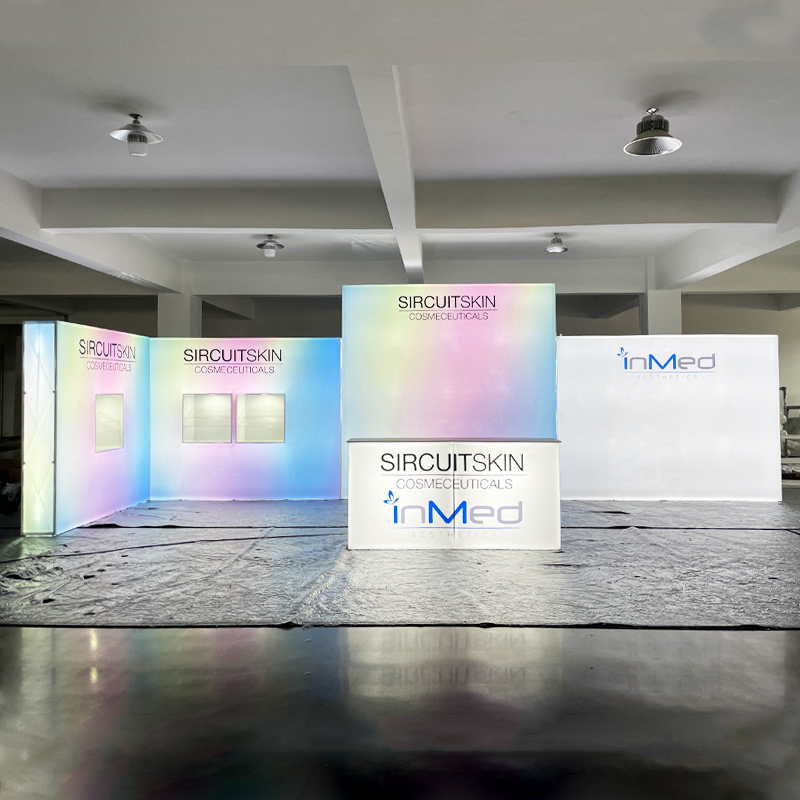 2021 10x30ft Led backlit expo exhibition display trade show booth