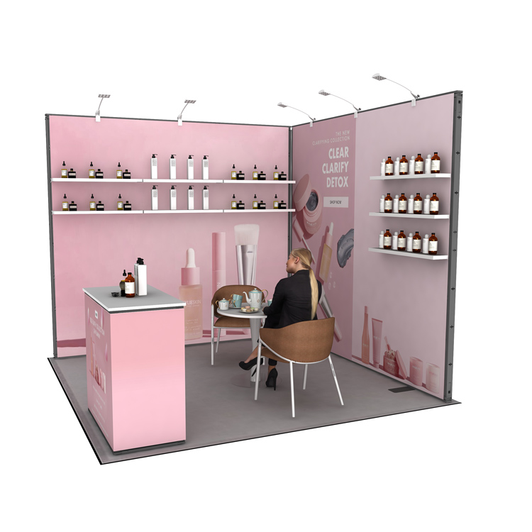 2021 new arrival 10x10 ft China factory exhibit display booth